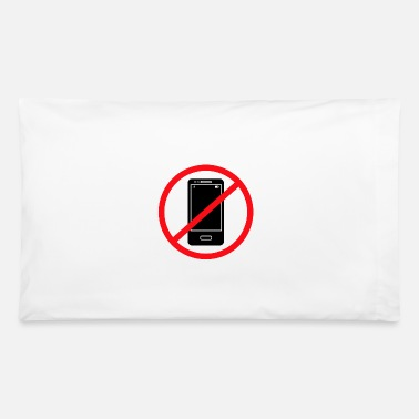 Mobile Phone Vector no mobile phones sign - Pillowcase