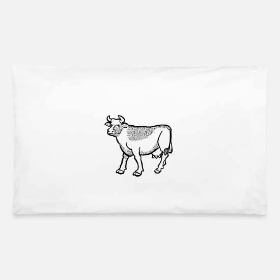 Cow Pillow Cases - cow - Pillowcase 32'' x 20'' white