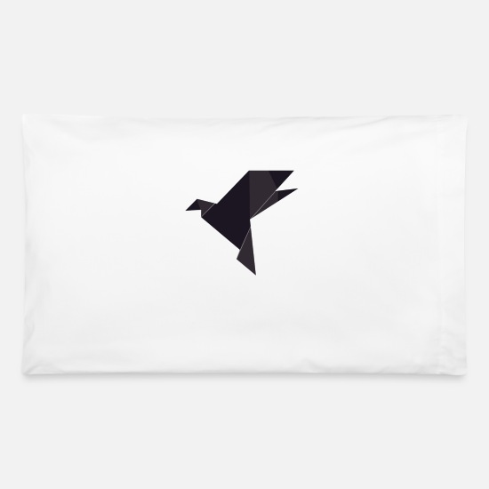 Birthday Pillow Cases - Origami Bird - Pillowcase 32'' x 20'' white