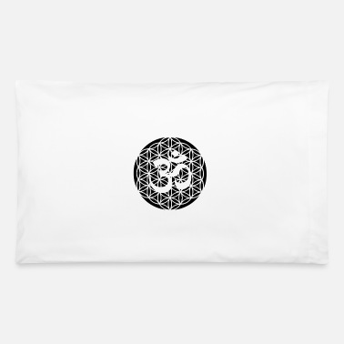 Life Flower Flower of Life Flower of Life with Om Gift Idea - Pillowcase 32'' x 20''