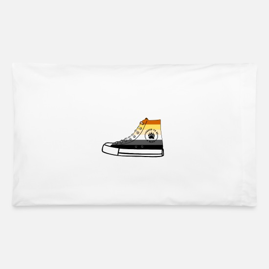 Gay Pride Pillow Cases - Bear Sneaker LGBT Gay Pride Fetish - Pillowcase 32'' x 20'' white