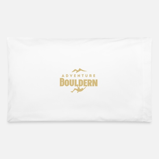Birthday Pillow Cases - Adventure bouldering men design - Pillowcase 32'' x 20'' white