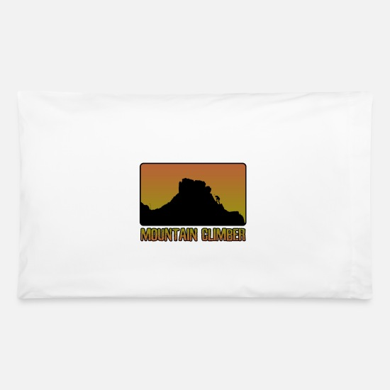 Mountains Pillow Cases - Mountain climber - Pillowcase 32'' x 20'' white