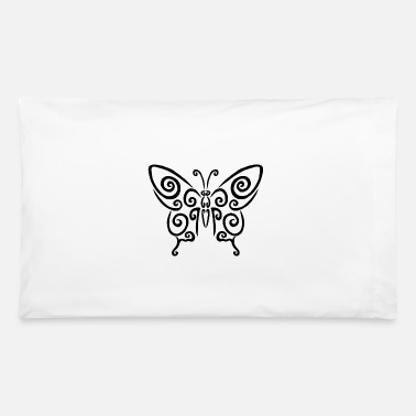 Coat Of Arms Black spiral butterfly - Pillowcase 32'' x 20''
