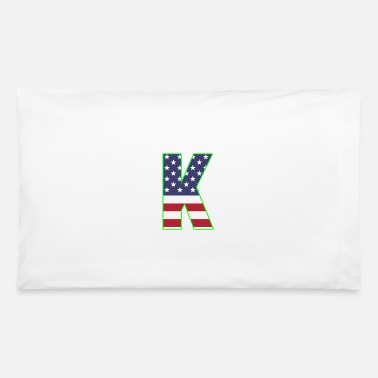 K Alphabet USA letter K Kilo alphabet - Pillowcase 32'' x 20''