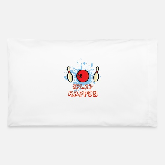 Bowling Club Pillow Cases - Split Happen - Pillowcase 32'' x 20'' white