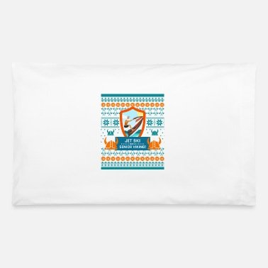Cheers Jet Ski Like a Bearded Senior Viking Ugly Xmas - Pillowcase