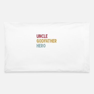 Crest Uncle T Shirt Cool awesome godfather hero family - Pillowcase