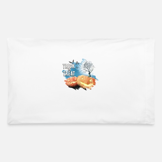 Treat Pillow Cases - Trick or treat. - Pillowcase 32'' x 20'' white