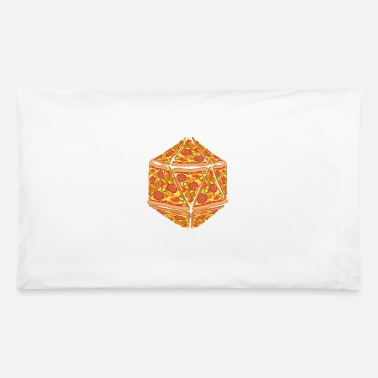 Dice Pizza Dice Dungeon RPG tabletop gamer gift - Pillowcase 32'' x 20''