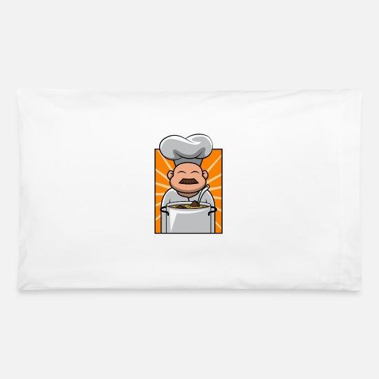 Birthday Pillow Cases - Cooking Cook Gastro Kitchen Food Chef Gift - Pillowcase 32'' x 20'' white