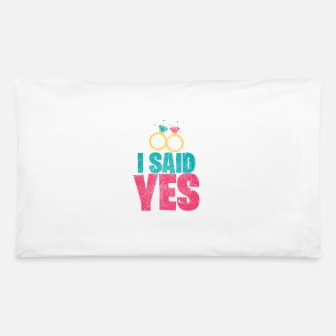 Wedding Anniversary Engagement Wedding Ring Man Woman Gift - Pillowcase 32'' x 20''
