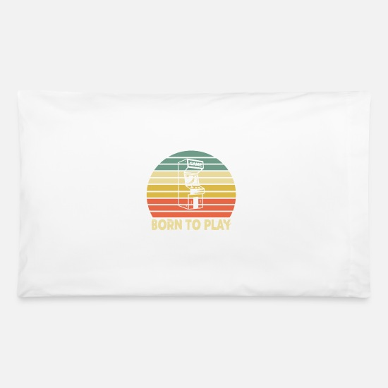 Play Pillow Cases - Born To Play - Pillowcase 32'' x 20'' white