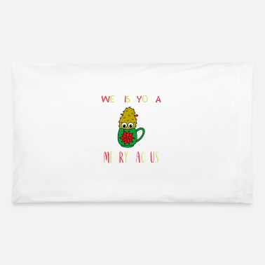Wishes We Wish You A Merry Cactus - Small Christmas - Pillowcase 32'' x 20''