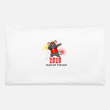 Dab 2020 Year of the Rat Dabbing Happy Chinese New - Pillowcase 32'' x 20''