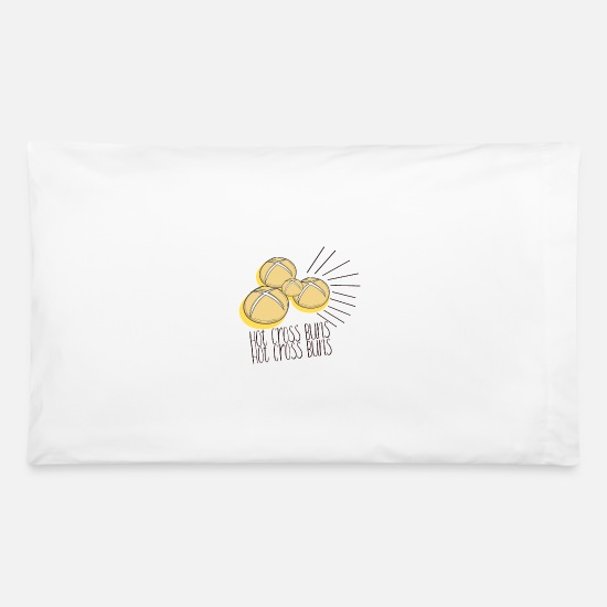 Art Pillow Cases - Hot Cross Buns - Hot Cross Buns - Pillowcase 32'' x 20'' white