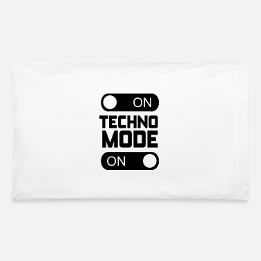 Modernist Techno Mode On - Rave Music Party - 90s Party 2 - Pillowcase 32'' x 20''
