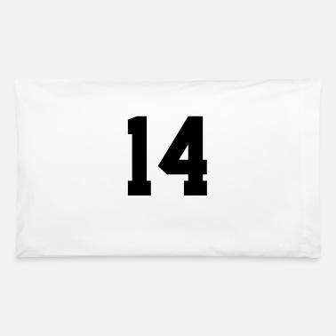 Jersey Number 14, Number, Sports, Jersey, Team, Varsity - Pillowcase 32'' x 20''