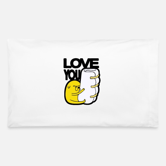 Love Pillow Cases - love you - Pillowcase 32'' x 20'' white