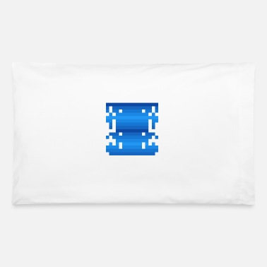 16bit Invader from Space: 16-bit, long, slim UFO - Pillowcase 32'' x 20''
