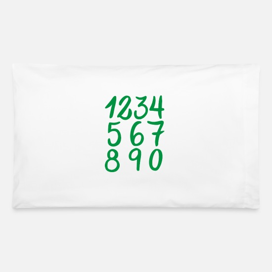 Week Pillow Cases - Numbers Collection - Pillowcase 32'' x 20'' white