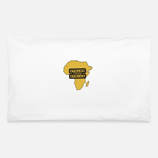 Africa Pillow Cases - Black History Month - Stolen From Africa - Pillowcase 32'' x 20'' white
