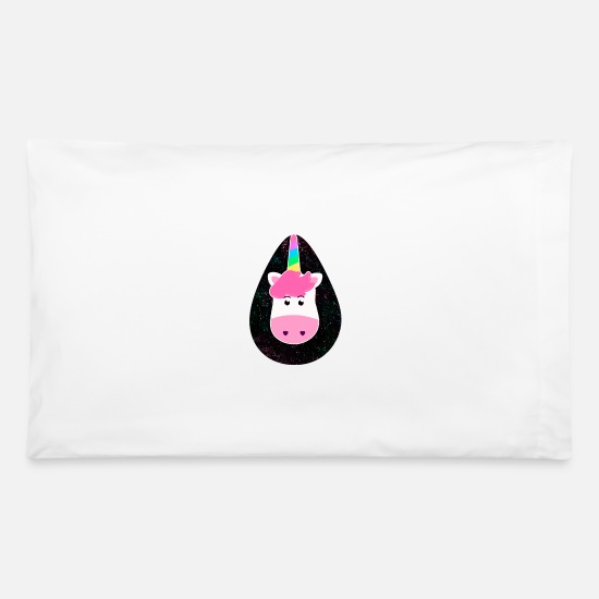 Color Pillow Cases - UNICORN - Pillowcase 32'' x 20'' white