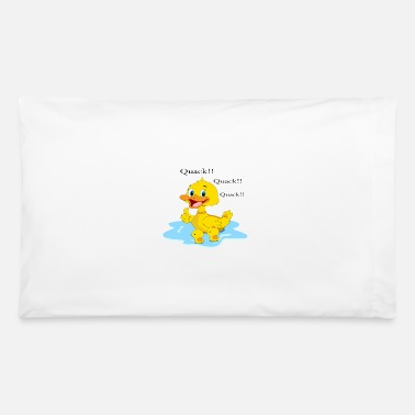 Duck Mama duck with babies quack beak puddle - Pillowcase 32'' x 20''