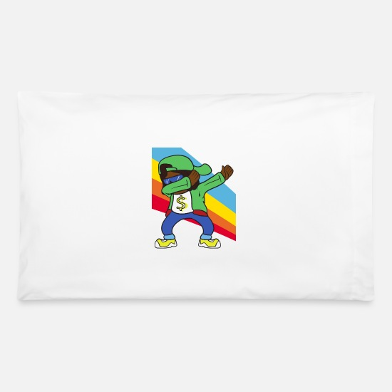 Rapper Pillow Cases - Retro Vintage Pop Art Dabbing Dab Rapper Music - Pillowcase 32'' x 20'' white