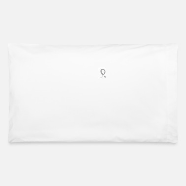 Lung Cancer Ribbon Fight Lung Cancer - White Ribbon Tee - Pillowcase 32'' x 20''