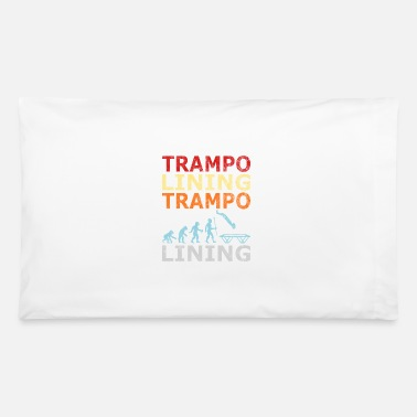 Retro Vintage Style Evolution Trampoline Jumping - Pillowcase 32'' x 20''