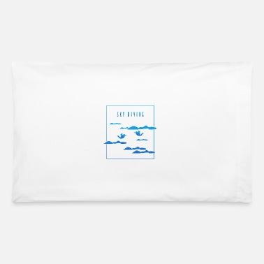 Blue Sky Sky Diving Blue - Pillowcase 32'' x 20''