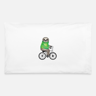 Cycling Sloth on bycyle cycling sloth cycling bike gift - Pillowcase 32'' x 20''