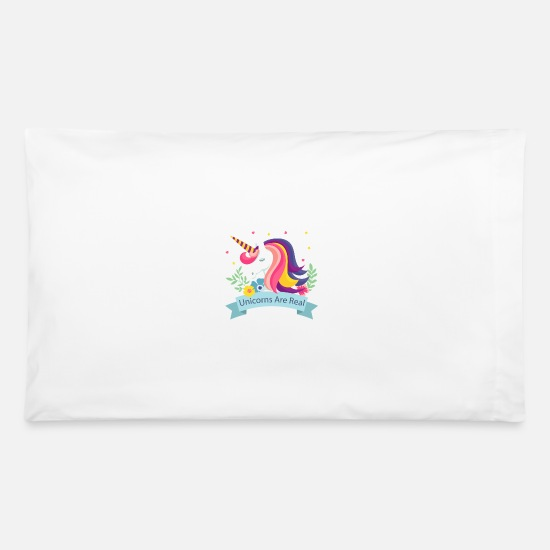 Birthday Pillow Cases - Unicorns Are Real - Limited Edition - Pillowcase 32'' x 20'' white