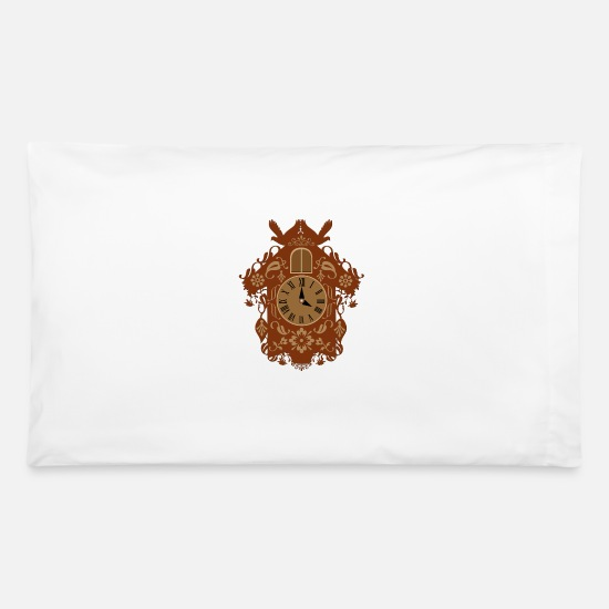 Tourism Pillow Cases - decorative brown cuckoo clock - Pillowcase 32'' x 20'' white
