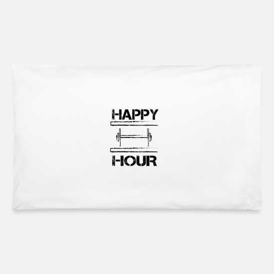 Happy Holidays Pillow Cases - HAPPY HOUR - Pillowcase 32'' x 20'' white