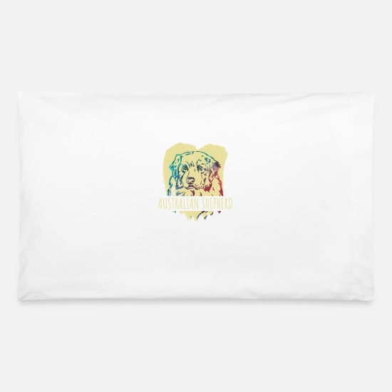 Birthday Pillow Cases - Australian Shepherd - Pillowcase 32'' x 20'' white