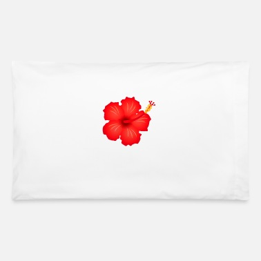 Blume hibiscus exotic flower bloom plant glora gift - Pillowcase