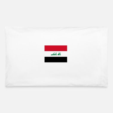 Iq Flag of Iraq (iq) - Pillowcase 32'' x 20''