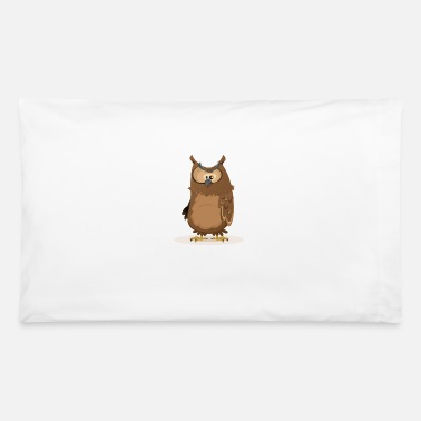 Blatant Owl tshirt. Cartoon tshirt. Coffee t-shirt. - Pillowcase 32'' x 20''