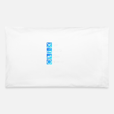 Tides Diver Eat Sleep Dive Repeat Diving Scuba Reef Gift - Pillowcase 32'' x 20''