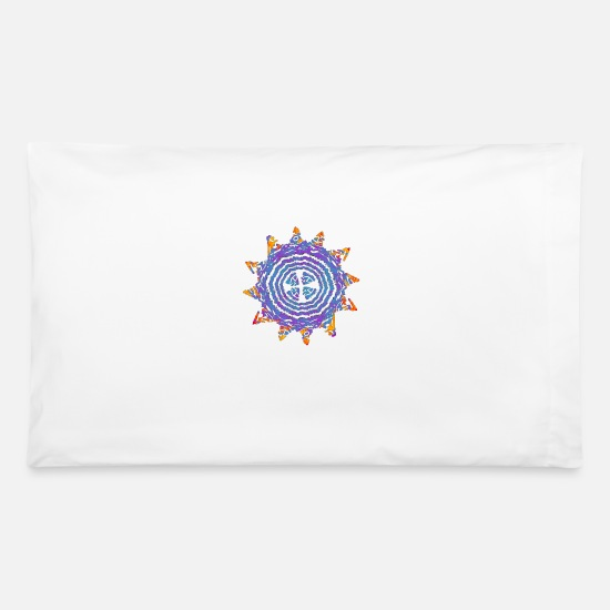 Meditation Pillow Cases - mystic Ornament love - Pillowcase 32'' x 20'' white