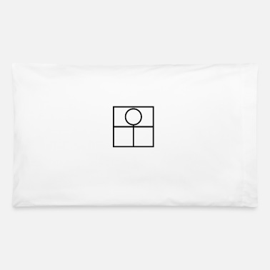 Abstract Figure - Black - Pillowcase 32'' x 20''