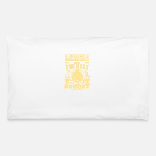 Born Pillow Cases - born in august - Pillowcase 32'' x 20'' white