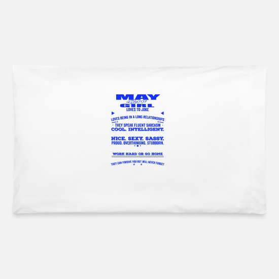 May Pillow Cases - QUALITIES OF THE GIRL BORN IN MAY MAY BIRTHDAY - Pillowcase 32'' x 20'' white