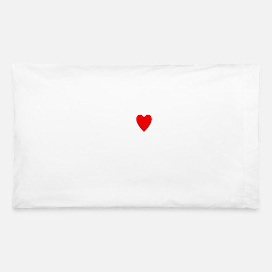 Hardstyle Pillow Cases - Hardstyle I love - Pillowcase 32'' x 20'' white