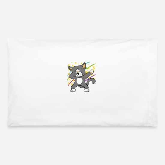 Kitten Pillow Cases - Dabbing Dab Cat Kitten Disco Party Music Dancing - Pillowcase 32'' x 20'' white