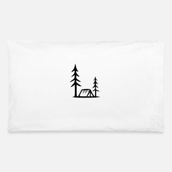 Trekking Pillow Cases - climber tent - Pillowcase 32'' x 20'' white
