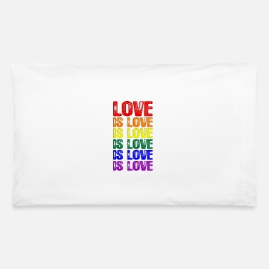 Love LGBTQ Love is Love is Love - Pillowcase