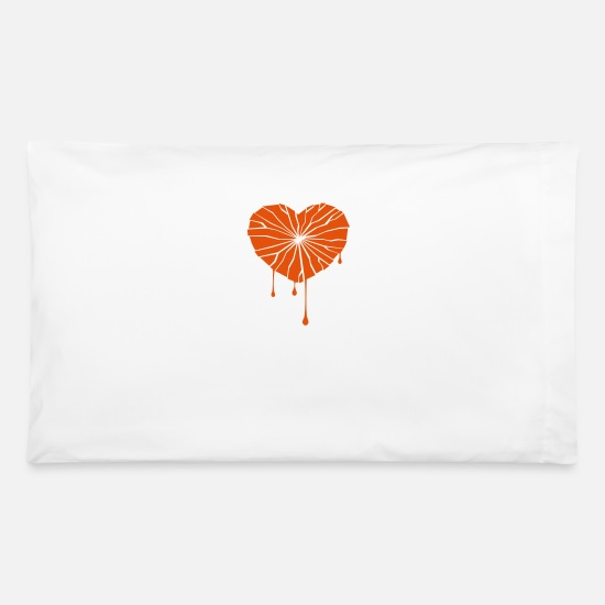 Love Pillow Cases - A Broken Heart - Pillowcase 32'' x 20'' white